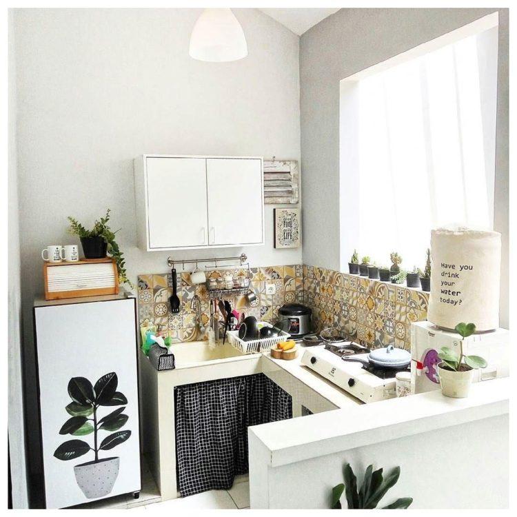 Contoh Desain Dapur Sederhana tanpa Kitchen Set