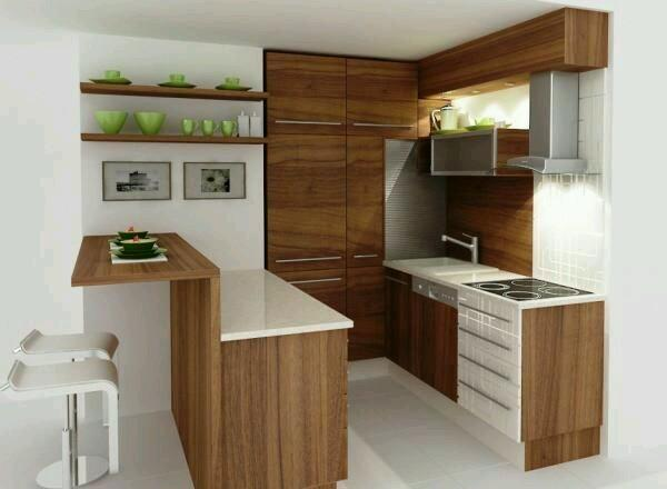 Imut Banget 10 Contoh Dapur Mini Bar Mungil Super Ciamik