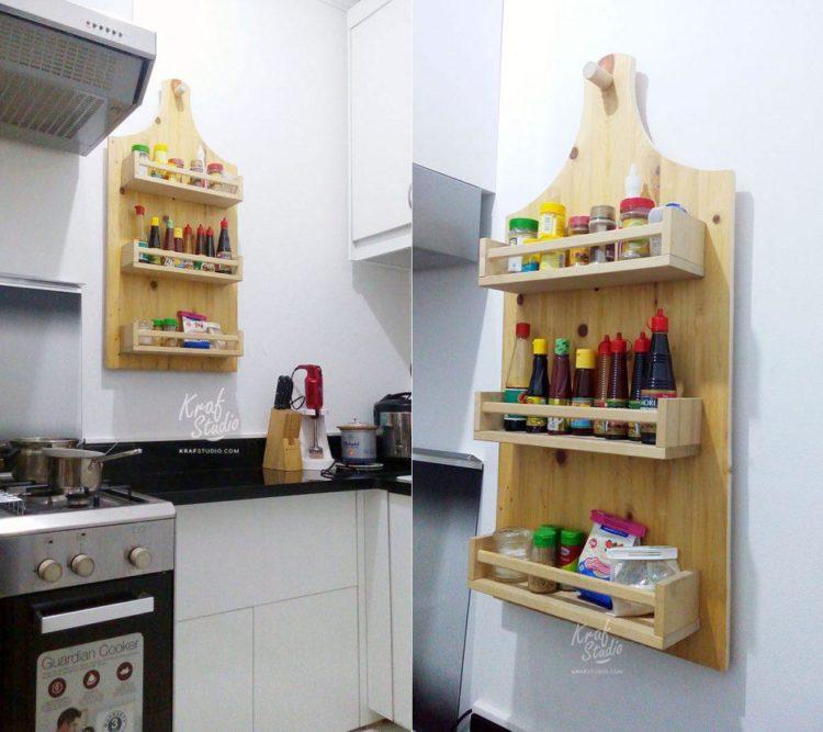 Tips Menciptakan Dapur Luas // Furniture Dapur Dari Kayu Minimalis ...