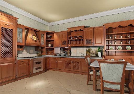 Desain Lemari Gantung Dapur Kayu Jati Minimalis – Blog Desain Rumah