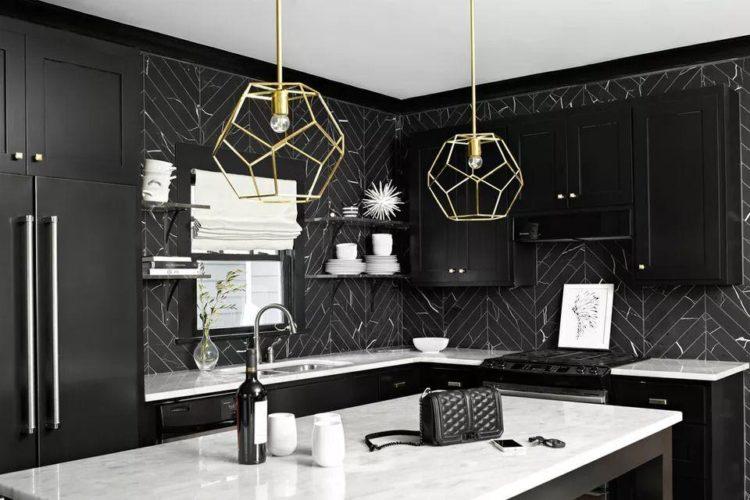 8 Desain Dapur Minimalis Warna Hitam yang Super Keren dan Elegan