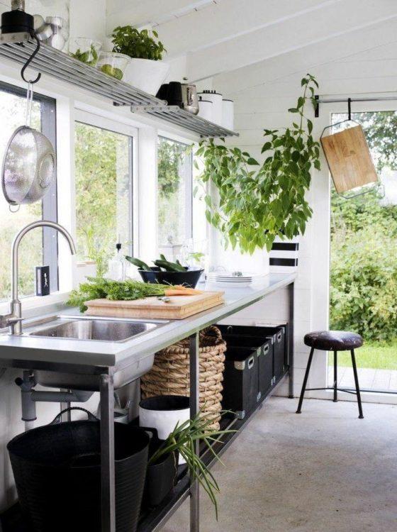 Desain Dapur Kecil Terbuka